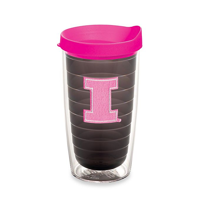 Alternate image 1 for Tervis® University of Illinois Fighting Illini 16 oz. Emblem Tumbler with Lid in Neon Pink