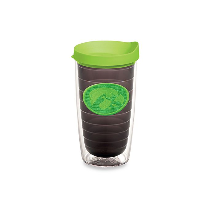 Alternate image 1 for Tervis® University of Iowa Hawkeyes 16 oz. Tumbler with Lid in Neon Green