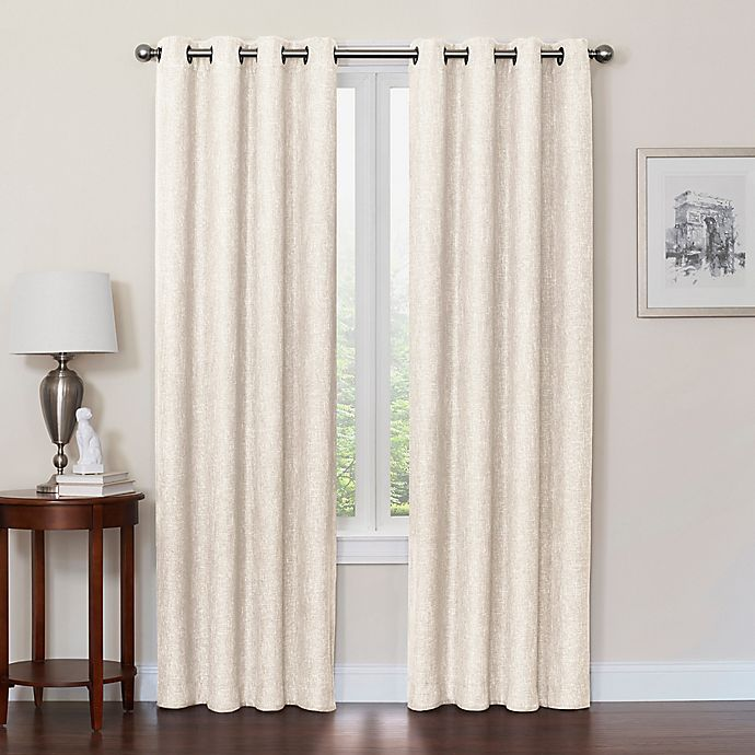 Alternate image 1 for Quinn Grommet Top 100% Blackout Window Curtain Panel