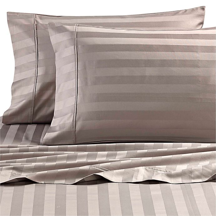 Alternate image 1 for Wamsutta® Dream Zone® Stripe 1000-Thread Count-PimaCott® Pillowcases (Set of 2)