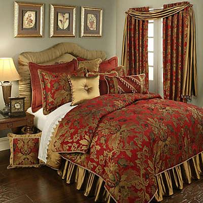 Austin Horn Classics Verona 4-piece Comforter Set in Red