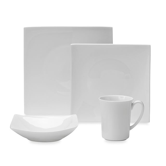 Alternate image 1 for Nevaeh White® by Fitz and Floyd® Hard Square Dinnerware Collection
