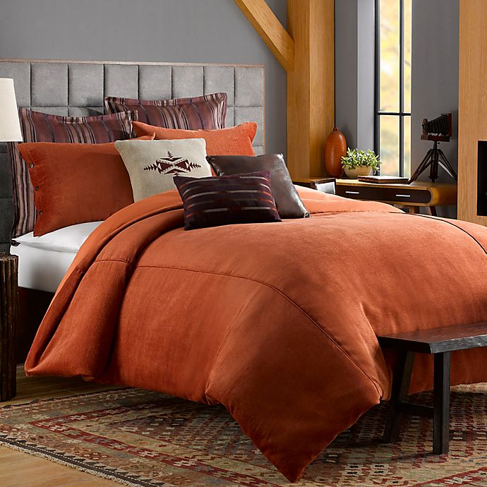 Solid Chenille Duvet Cover In Picante Bed Bath Amp Beyond