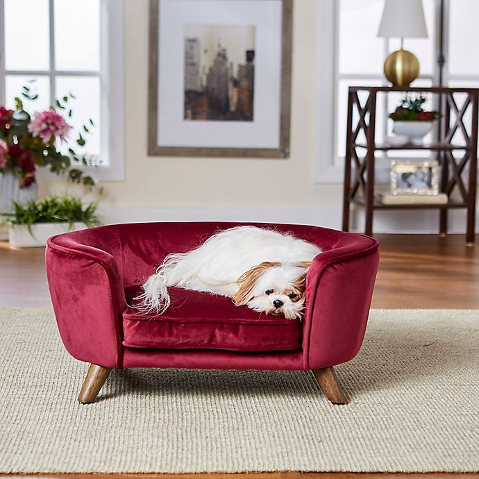 Alternate image 1 for Enchanted Home™ Pet Romy Small Pet Sofa Bed in Wine