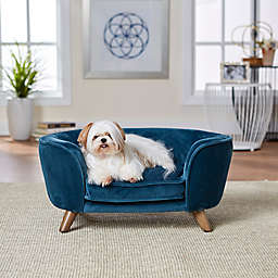 Enchanted Home™ Pet Romy Small Pet Sofa Bed in Peacock
