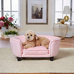 Enchanted Home™ Pet Faux Leather Small Pet Sofa Bed in Pink