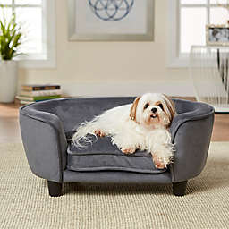 Enchanted Home™ Pet Faux Leather Small Pet Sofa Bed in Dark Grey