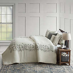 Bee & Willow™ Home Floral Embroidered Frame 3-Piece Comforter Set