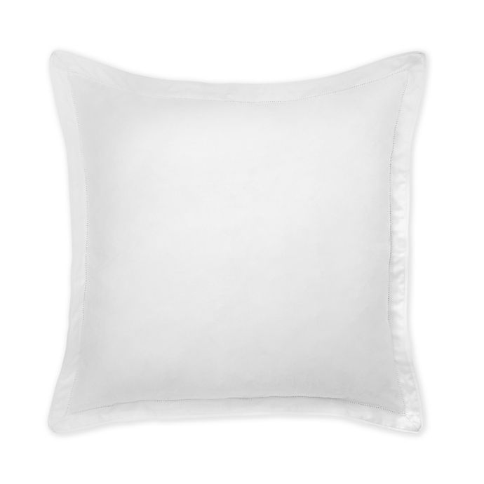 Alternate image 1 for Under the Canopy® Italian Hem Stitch Organic Cotton European Pillow Sham in White