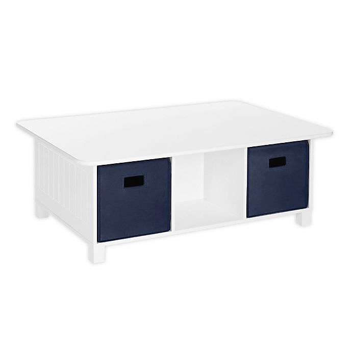 Alternate image 1 for RiverRidge® Home Kids Activity Table with Storage Bins in White/Navy