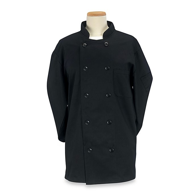 Alternate image 1 for KitchenWears Professional Chef Coat in Black