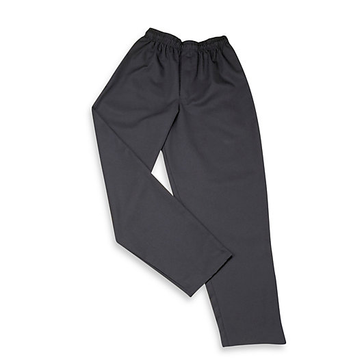 Alternate image 1 for KitchenWears Baggy Chef's Pants in Black