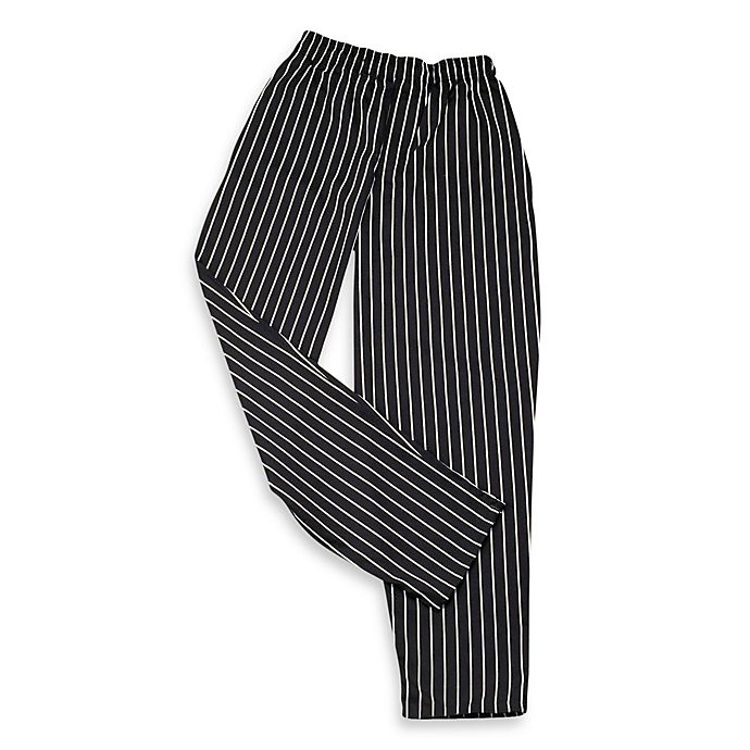 Alternate image 1 for KitchenWears Large Chef Pants with a Chalk Stripe