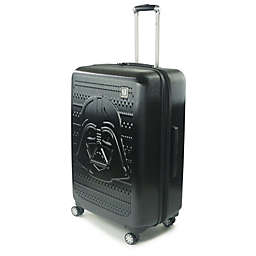 Disney® Star Wars® Darth Vader 29-Inch Checked Spinner Suitcase in Black