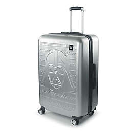 Disney® Star Wars® Darth Vader 29-Inch Checked Spinner Suitcase in Silver