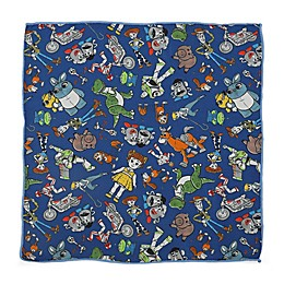 Disney® Toy Story Scattered Motif Boy's Pocket Square in Blue