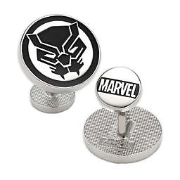 Marvel® Black Panther Mask Silver-Plated Cufflinks