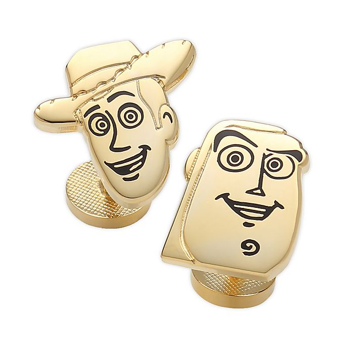 Alternate image 1 for Disney® Toy Story 4 Woody and Buzz Gold-Plated Cufflinks