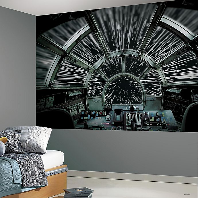 Alternate image 1 for RoomMates® Star Wars™ Millennium Falcon Peel and Stick Mural
