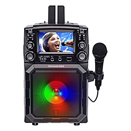 Karaoke USA CD+G Bluetooth Portable Karaoke Machine with LCD Screen