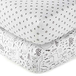 Nest & Nod Nico Fitted Sheet in Black/White (Set of 2)