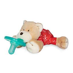 Wubbanub® Pajama Bear Infant Pacifer in Tan/Red