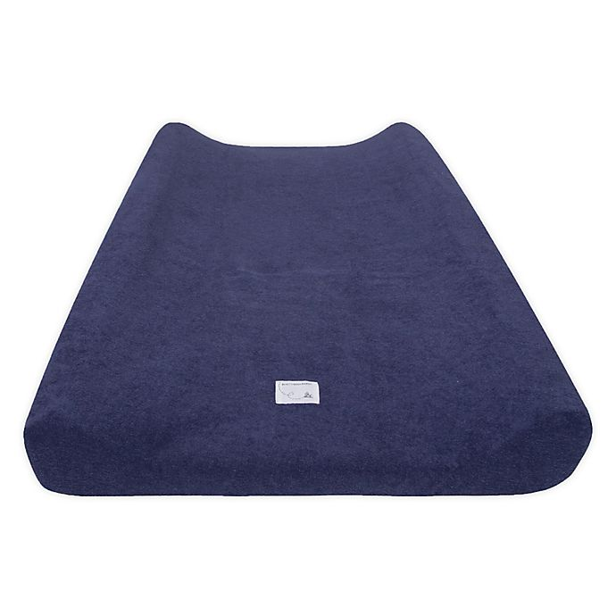 Alternate image 1 for Burt's Bees Baby™ Organic Cotton Changing Pad Cover in Indigo