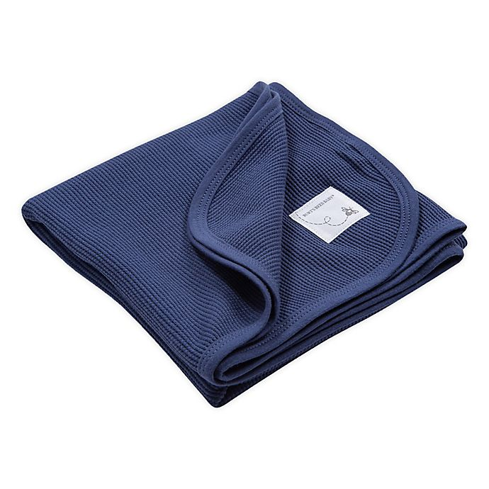 Alternate image 1 for Burt's Bees Baby™ Organic Cotton Thermal Receiving Blanket in Indigo