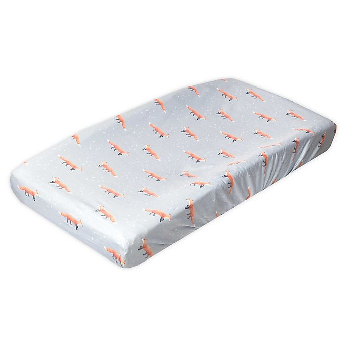 Alternate image 1 for Copper Pearl™ Swift Changing Pad Cover in Grey/Orange