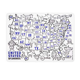 Modern Twist® Reusable USA Map Placemat in Clear