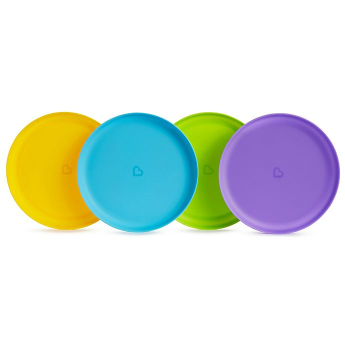 Alternate image 1 for Munchkin® 4-Pack Multicolored Plates