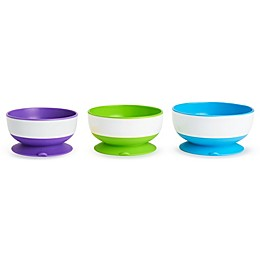 Munchkin® 3-Pack Multicolored Stay Put Suction Bowls