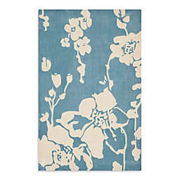 Safavieh Modern Art 5-Foot x 8-Foot Rug in Blue/Ivory