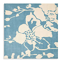 Safavieh Modern Art 7-Foot x 7-Foot Rug in Blue/Ivory