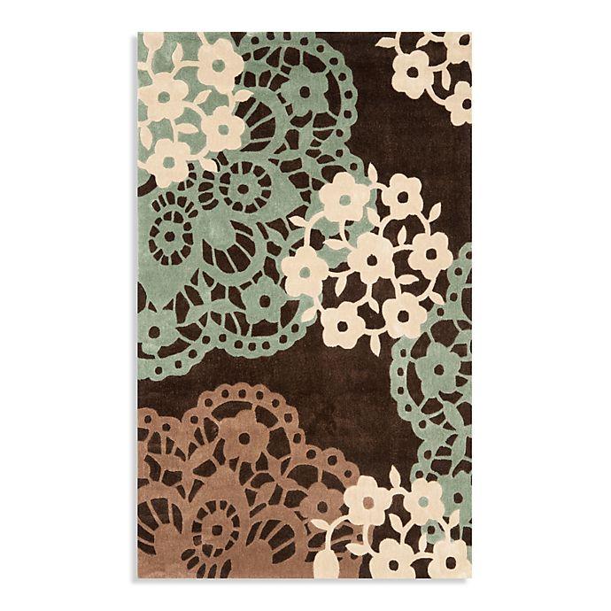 Alternate image 1 for Safavieh Modern Art 5-Foot x 8-Foot Rug in Brown/Multi