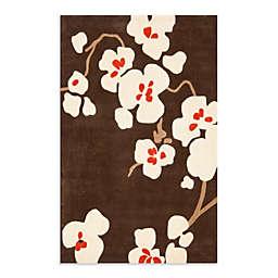 Safavieh Modern Art Rug in Brown/Ivory