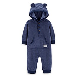 carter's® Hooded Ear Coverall in Navy
