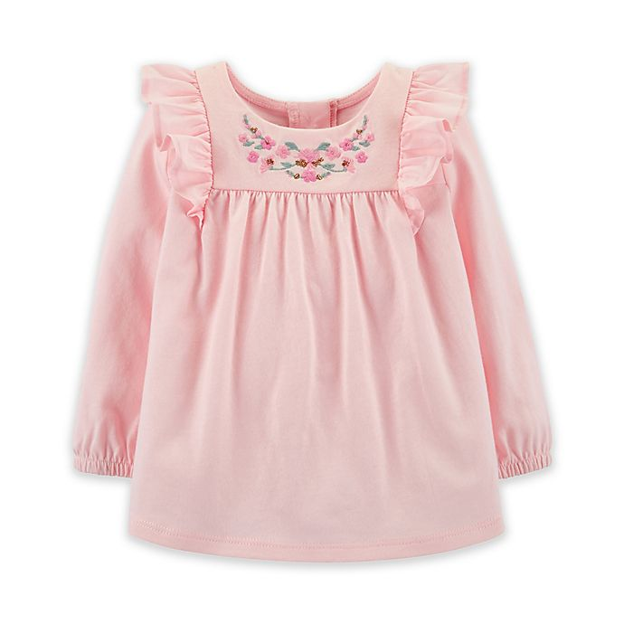 Alternate image 1 for OshKosh B'gosh® Embroidered Amour Shirt in Pink