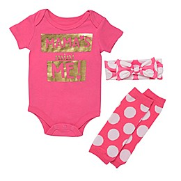 Baby Starters® 3-Piece Mama's Mini-Me Bodysuit, Headband, and Leg Warmers Set