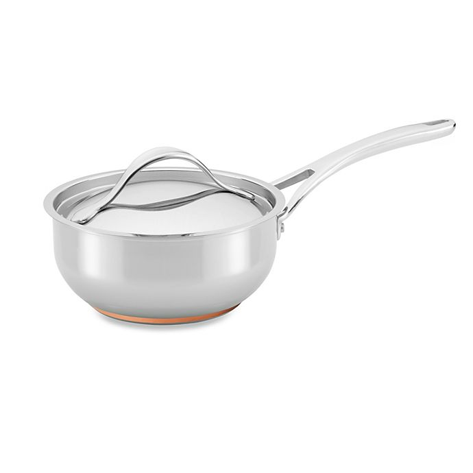 Alternate image 1 for Anolon® Nouvelle Copper Stainless Steel 2.5 qt. Covered Saucier
