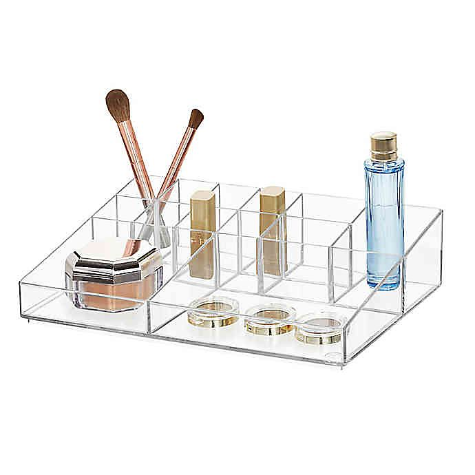 Alternate image 1 for iDesign™ Large Clear Divided Cosmetic Organizer