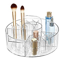 iDesign™ Clear Cosmetic Divided Spinner Caddy