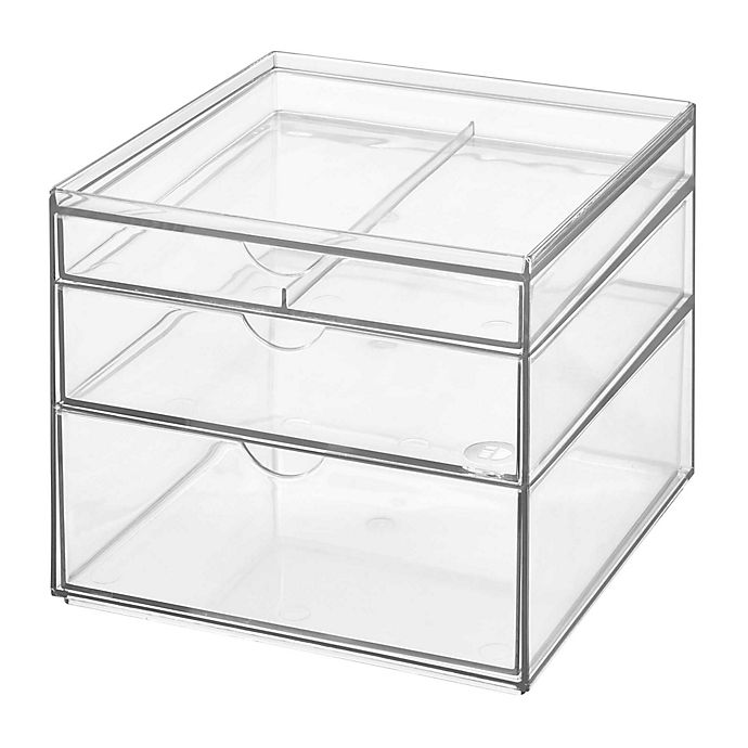 Alternate image 1 for iDesign™ 3-Drawer Clear Stackable Cosmetic Organizer
