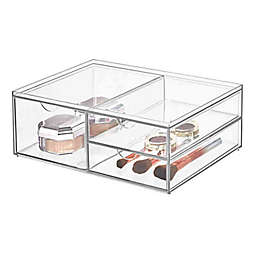 iDesign™ 3-Drawer Clear Wide Stackable Cosmetic Organizer