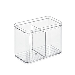 iDesign™ Clear Stackable Divided Countertop Canister