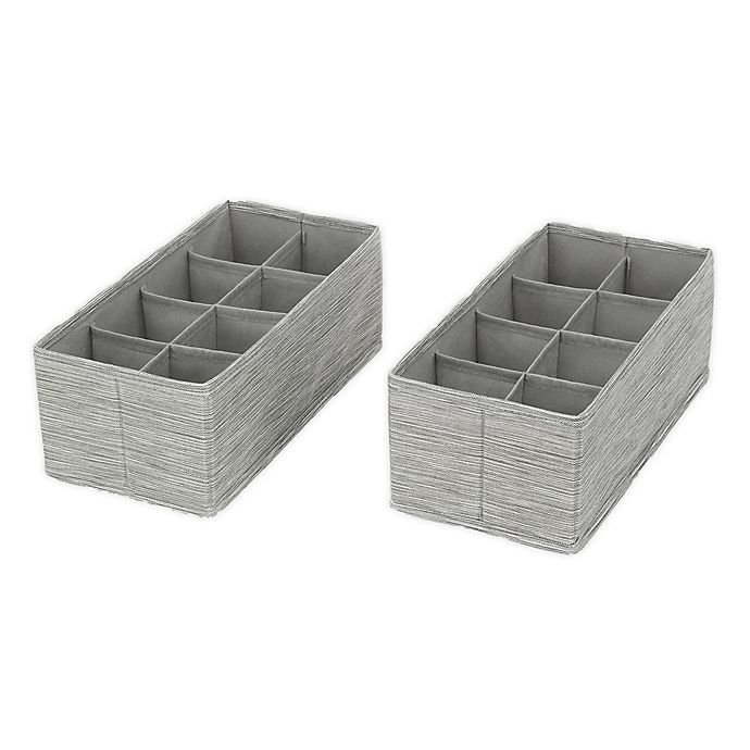Alternate image 1 for ORG 8-Section Drawer Organizers (Set of 2)