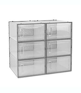 Contenedores transparentes con puerta frontal abatible