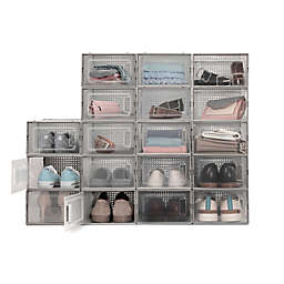 Swing Front Shoe Storage Bins (Set of 6)