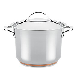 Anolon® Nouvelle Copper Stainless Steel 6.5 qt. Covered Stock Pot