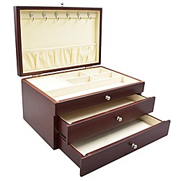 PKO Inc. Elegant Jewelry Box in Walnut